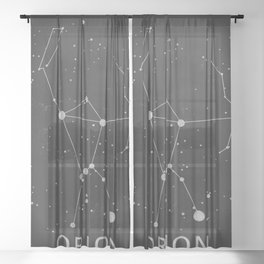 Orion Constellation 'The Hunter' Sheer Curtain
