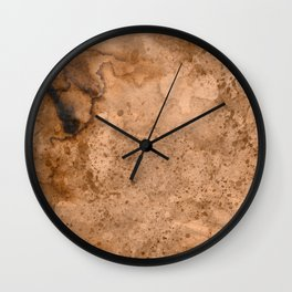 Acrylic Coffee Stained Paper Wall Clock