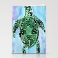 tatoo Stationery Cards featuring Tatoo Sea Turtle by PepperDsArt