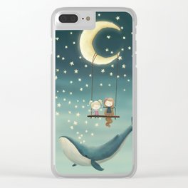 Swing by the moon Clear iPhone Case
