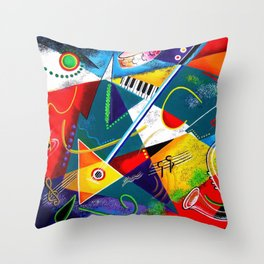 Performing Arts - Energy of Music Throw Pillow