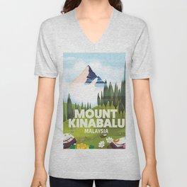 Mount Kinabalu Malaysia Unisex V-Neck
