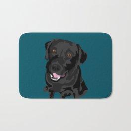 Black Labrador Bath Mat