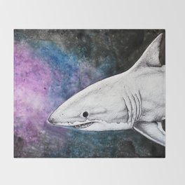 Galaxy Shark Throw Blanket