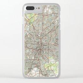 Atlanta Georgia Map (1981) Clear iPhone Case