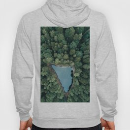 Hidden Lake in a Forest - Landscape Photography Hoody