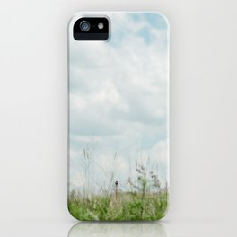 Wildflower Sky - Clouds and Flowers iPhone Case