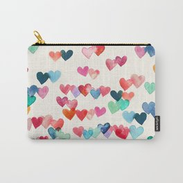 Heart Connections - watercolor painting Carry-All Pouch