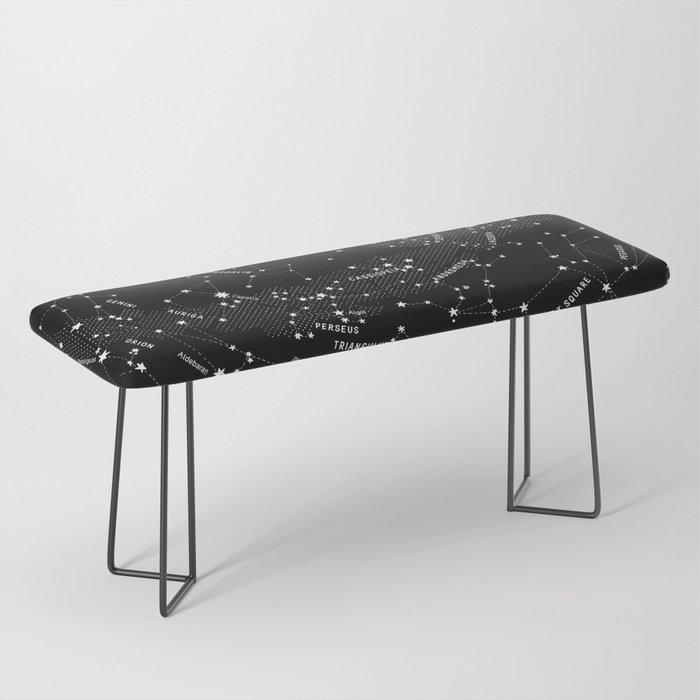 Constellation Map - Black Bench