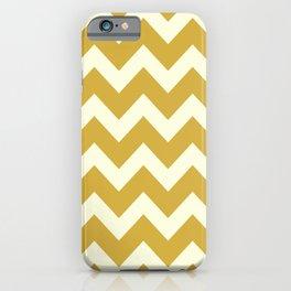 Yellow Mustard Chevron iPhone Case