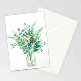 greenery in the jar Stationery Cards