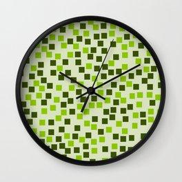 Abstract colorful mosaic pattern IV Wall Clock