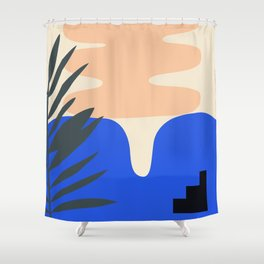 Shape study #14 - Stackable Collection Shower Curtain