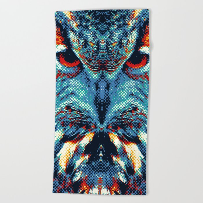 Owl - Colorful Animals Beach Towel