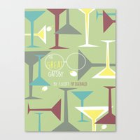 gatsby Canvas Prints featuring Gatsby by Jennifer Epstein