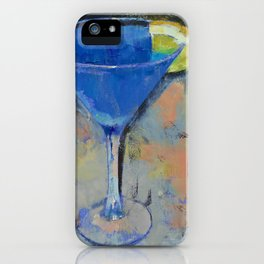 Royal Blue Martini iPhone Case