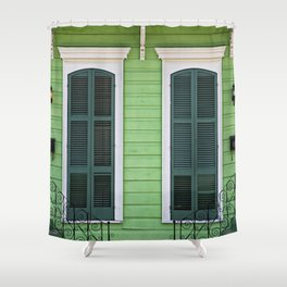 Green Creole Cottage Shower Curtain