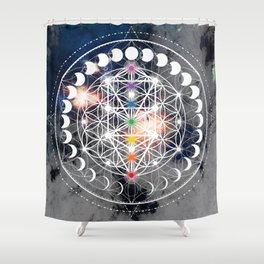 We Are Beings Of Light Shower Curtain