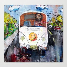 Happy Hippie Canvas Print