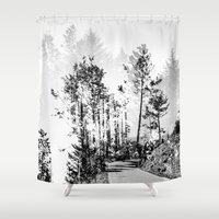 woodland Shower Curtains featuring Woodland by Schwebewesen • Romina Lutz