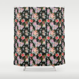 Medieval Roses Shower Curtain
