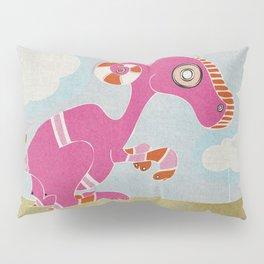 Kangaroo Go-Go Pink Pillow Sham