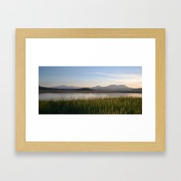 Mountain Sunrise in Snowdonia Framed Art Print