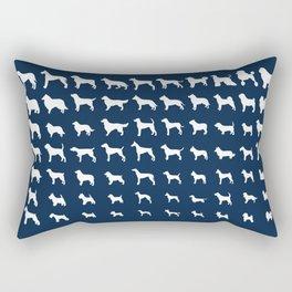 All Dogs (Navy) Rectangular Pillow