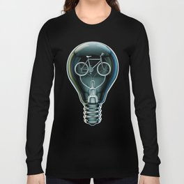 Dark Bicycle Bulb Long Sleeve T-shirt