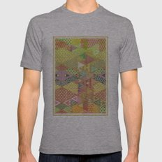 A FARCE / PATTERN SERIES 003 Mens Fitted Tee Athletic Grey SMALL