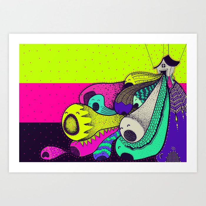 Birth of a Meta-ball Art Print