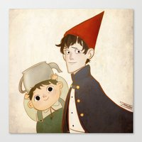 greg guillemin Canvas Prints featuring Greg & Wirt by Ferkashi