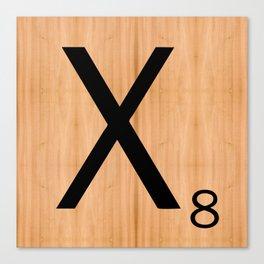 Scrabble Letter Tile - X Canvas Print