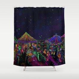 Magical Night Market Shower Curtain