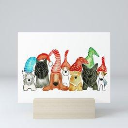 Dog Christmas Elves - Scottish Terrier, Parson Russell, Dachshund, West Highland White, Jack Russell Mini Art Print