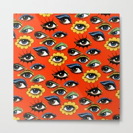 60s Eye Pattern Metal Print