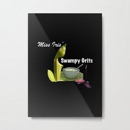Miss Iris' Swampy Grits Metal Print