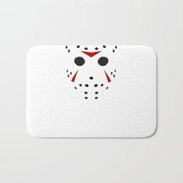 Serial killer hockey mask Bath Mat