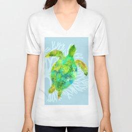 Mystical Sea Turtle Unisex V-Neck