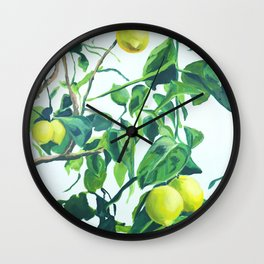 Foliage I / Lemon Tree Wall Clock