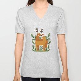 Deer Love Unisex V-Neck