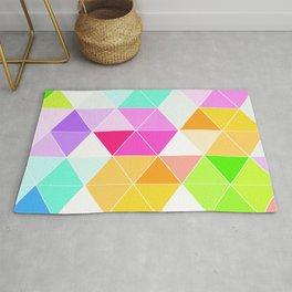 Colorful Triangle Mosaic Rug