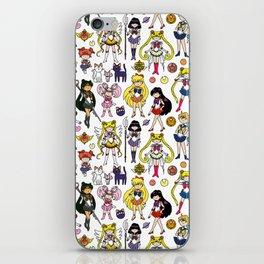 Kawaii Sailor Senshi Doodle iPhone Skin