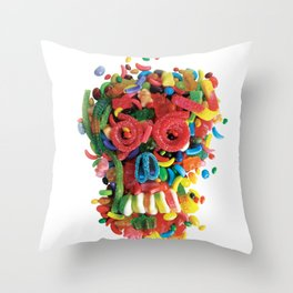 Death and Tooth Decay Throw Pillow