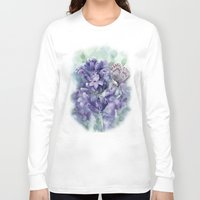 lavender Long Sleeve T-shirts featuring Lavender by A cup of grey tea