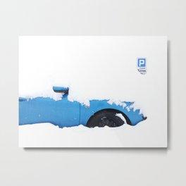 THE BLUE CAR Metal Print