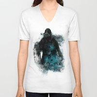 bane V-neck T-shirts featuring Abstract BANE by DesignLawrence