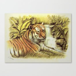 Tiger in free Wilderness Canvas Print