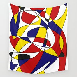 MONDRIAN AND GAUSS Wall Tapestry