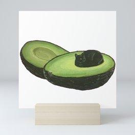 Avocado Cat Mini Art Print